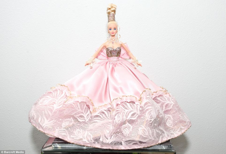 The 1996 Pink Splendor Barbie, valued at a thousand dollars, is Mr Colorite's most treasured doll