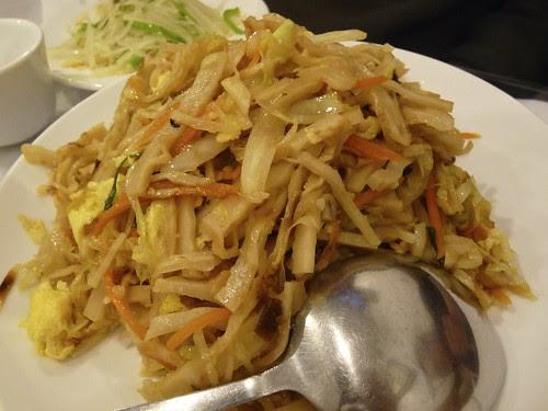 Stir Fried Cake (烧饼 Shao1 Bing3), Yi Lan Halal Restaurant, Main St, Flushing, Queens