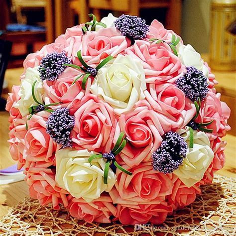 New Arrival Cheap Rose Wedding Bouquets Beautiful Rose