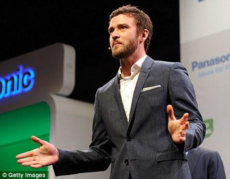 Grandes bolsos: A empresa também sem casca para fora para Justin Timberlake para aparecer na conferência de imprensa