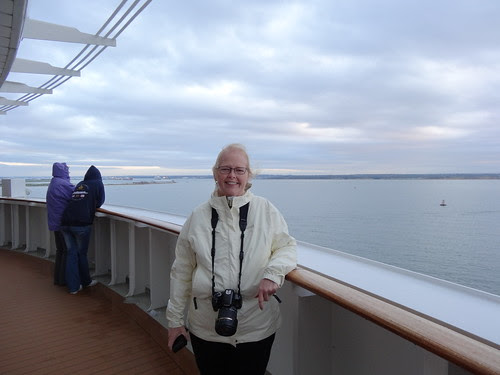 Arriving in Great Britain aboard the QM2!
