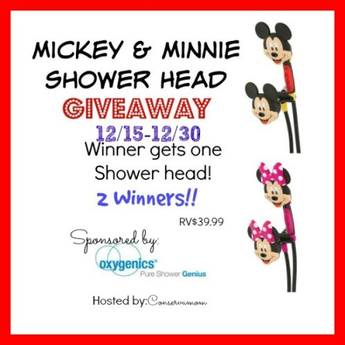 Enter the Disney Shower Head Giveaway. Ends 12/30.