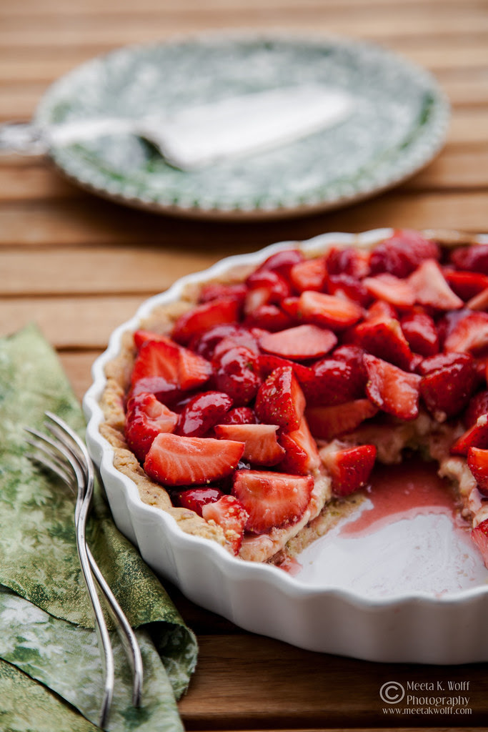 French Strawberry Creme Patiserie Tart (0012) by Meeta K. Wolff