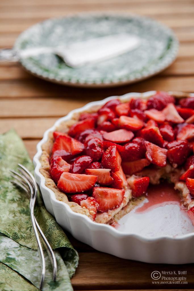 French Strawberry Creme Patiserie Tart (0012) by Meeta K. Wolff
