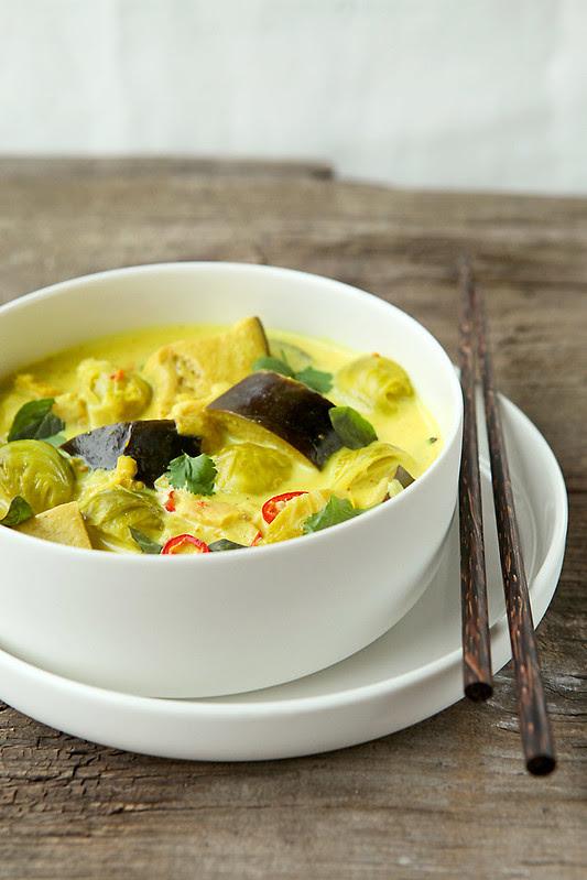 vegan aubergine curry