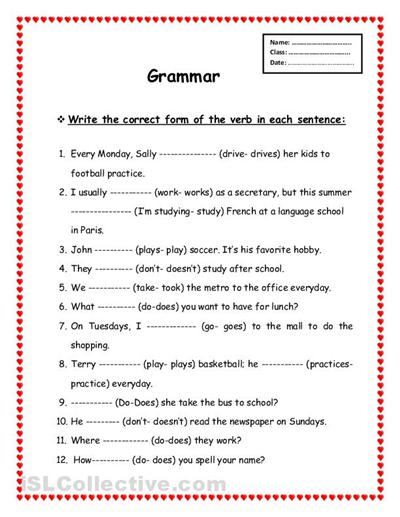 free printable grammar worksheets_208170