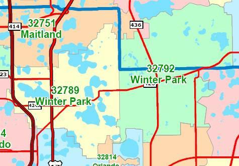 winter park seminole and orange county florida 32789 and 32792