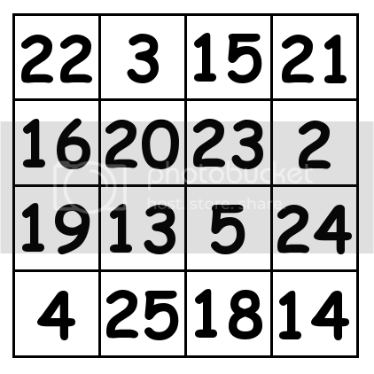 4 by 4 grid Solution 1