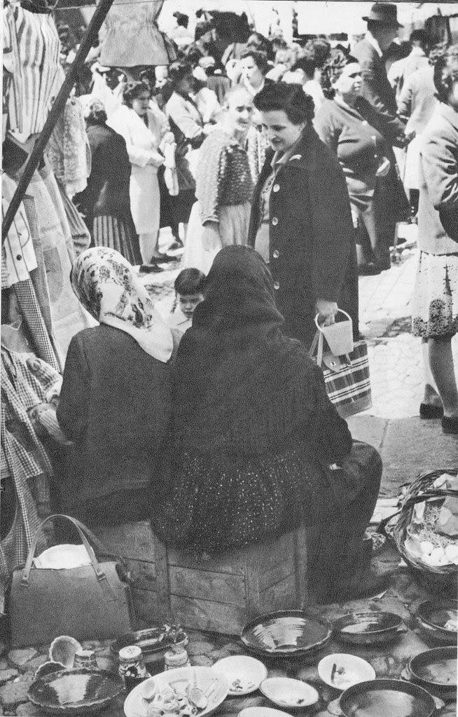 Mercado del martes en Toledo a mediados del siglo XX
