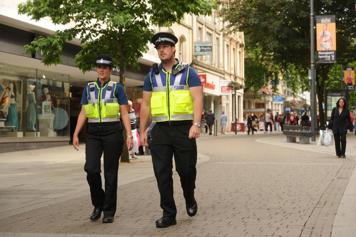 Two CSOs patrol Newport via the South Wales Argus