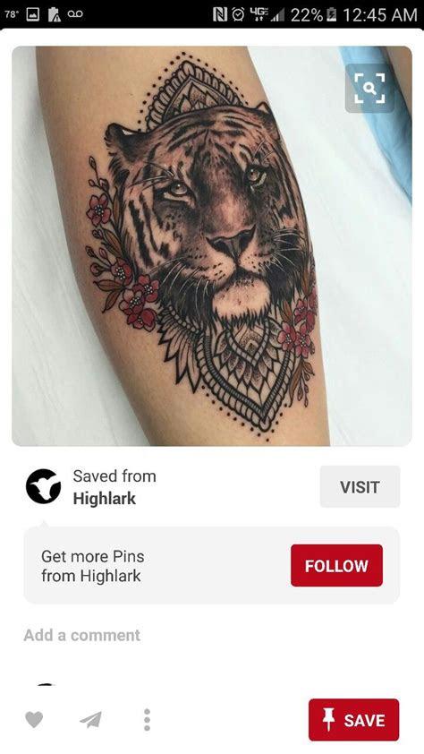 pin  brianna kent  tattoospiercings tiger tattoo