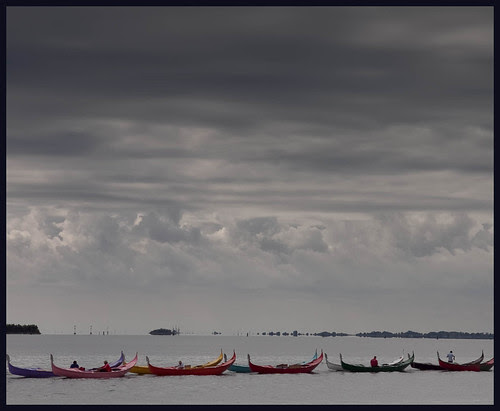 boats in Venice by hans van egdom