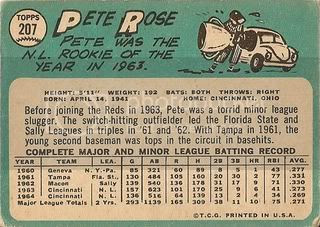 #207 Pete Rose (back)