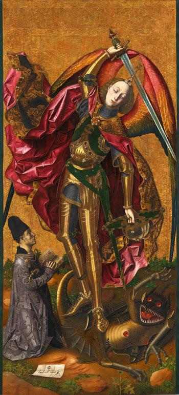 Resultado de imagen de San Miguel triunfante sobre el demonio con Antoni Joan de Tous