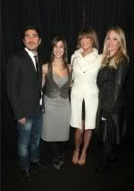 Elisa Dahan, Eran Elfassy, Erin Lucas and Sarah Wynter at Mackage Fall 2009