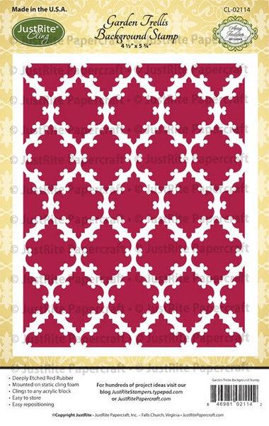 Garden Trellis Cling Background Stamp