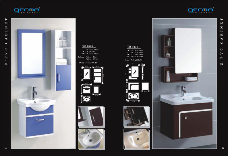 Product Catalogue Designs - GERMA Sanitarywares, Chennai. Page 7
