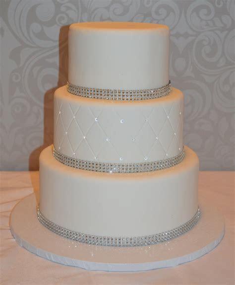 Three Tier Fondant Faux Wedding Cake, Fake Wedding Cake