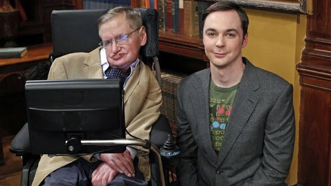 Stephen Hawking y Jim Parsons (Sheldon Cooper, de The Big Bang Theory)