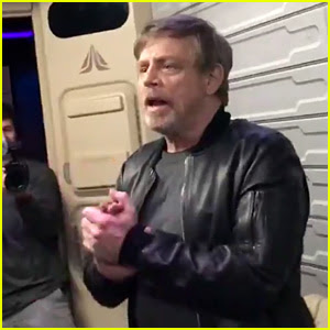 Mark Hamill Surprises Fans on 'Star Tours' at Disneyland! (Video)