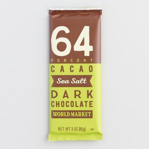 World Market All-Natural Sea Salt Dark Chocolate Bar