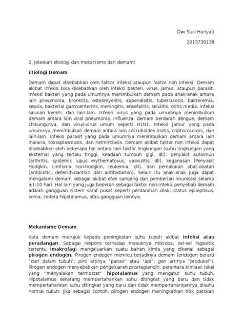 Mekanisme Dan Etiologi Demam