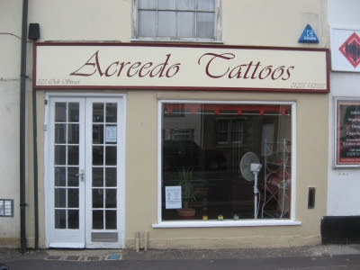 previous Tattoo Parlour - closed, and now a new tattoo place has opened
