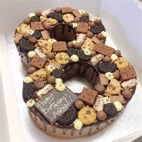 Chocolate Cookie Birthday Number Cake Anges De Sucre