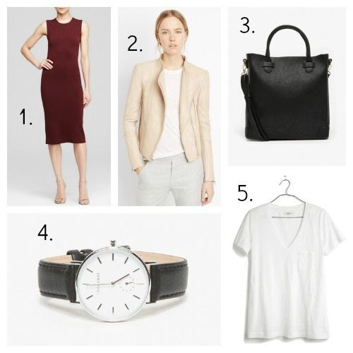 Theory Dress - Vince Jacket - Need Supply Tote - The Horse Watch - Madewell Tee