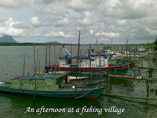 boats lining at the coast