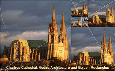 Chartres Cathedral, Gothic Architecture and Golden Rectangles.