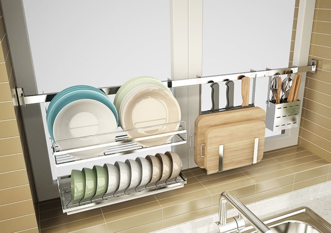 Wall Mounted Hanging Removable Kitchen Shelf Organizer For ...