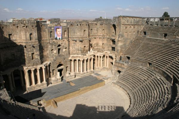 Photograph of Bosra amphitheatre seen from above - Syria - Asia