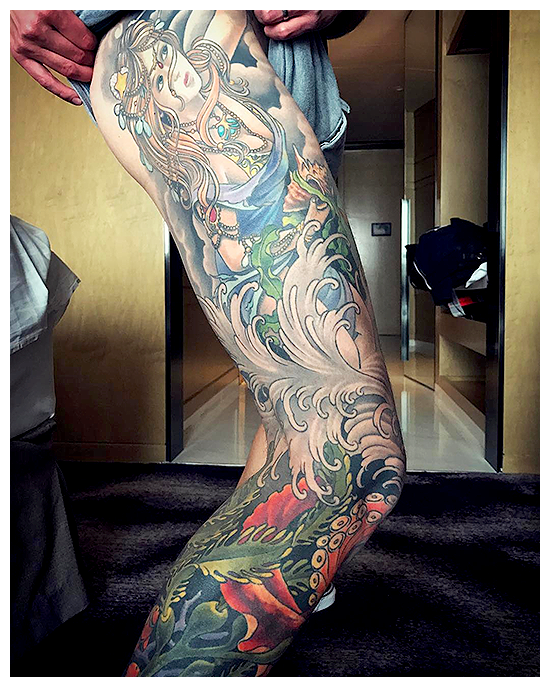 Pierre Reveals A Picture Of His Full Leg Tattoo En Simpleplancz