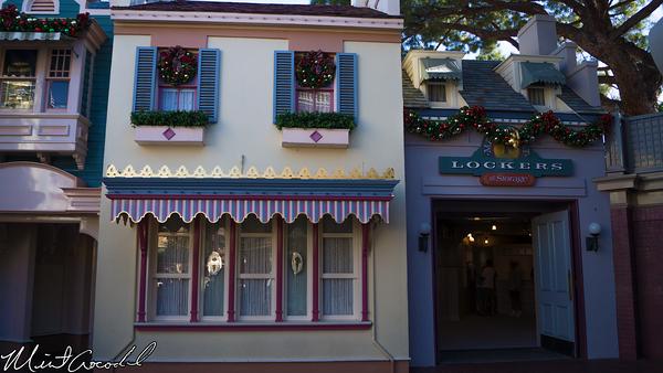 Disneyland Resort, Disneyland, Main Street U.S.A., Christmas Time, Lockers
