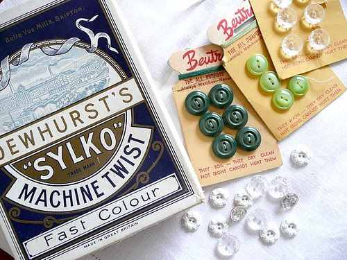 Vintage treasures from my Grandma's sewing box