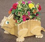 Flower Pot Horned Toad Woodworking Plan - fee plans from WoodworkersWorkshop® Online Store - flower pots,animals,full sized patterns,woodworking plans,woodworkers projects,blueprints,drawings,blueprints,how-to-build,MeiselWoodHobby