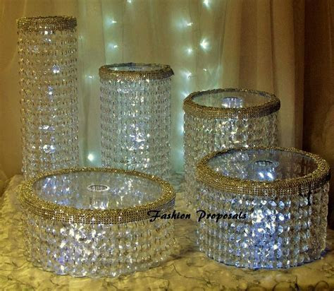 Wedding Cake Stand Cascade Waterfall Crystal Set Of 5