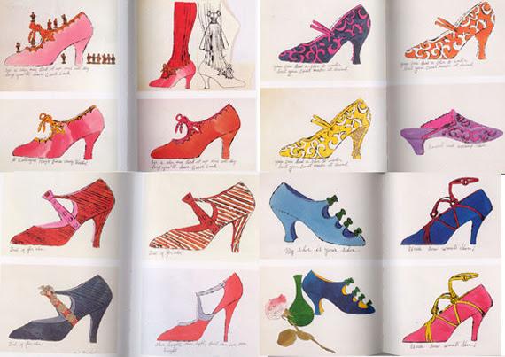 Andy Warhol shoe illustrations