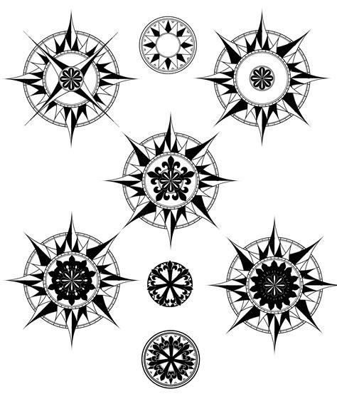 simple compass rose tattoo google search nautical