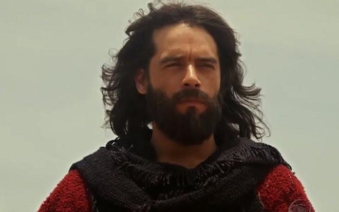 O ator Guilherme Winter em cena de Os Dez Mandamentos, que finalmente termina nesta segunda - Reprodução/Record