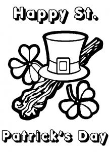 leprechaun's hat 4 leaf clovers for saint patrick's day