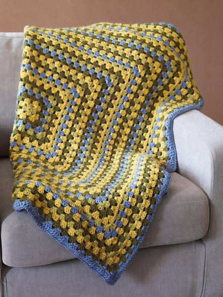 Afghan Squared Pattern Crochet Pattern