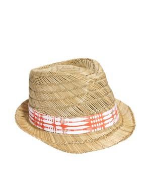 Image 2 ofEcho Ethnic Straw Fedora Hat