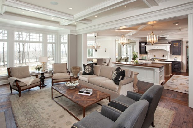 Home Architec Ideas Open Concept Kitchen And Living Room Decorating Ideas