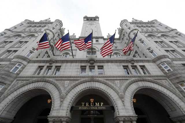 Le Trump International Hotel, à Washington, est situé... (PHOTO AP)