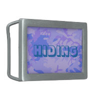 Light Blue Camouflage Pattern Rectangular Belt Buckles