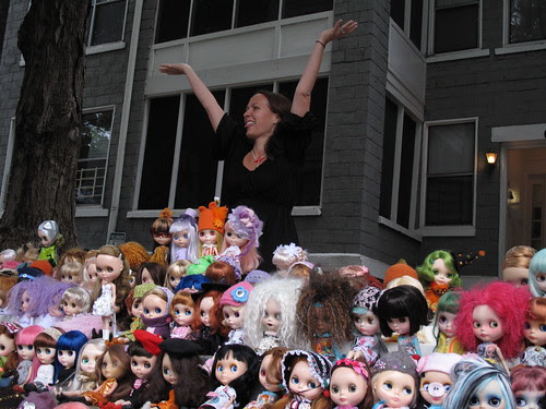 Gina and all the dolls!