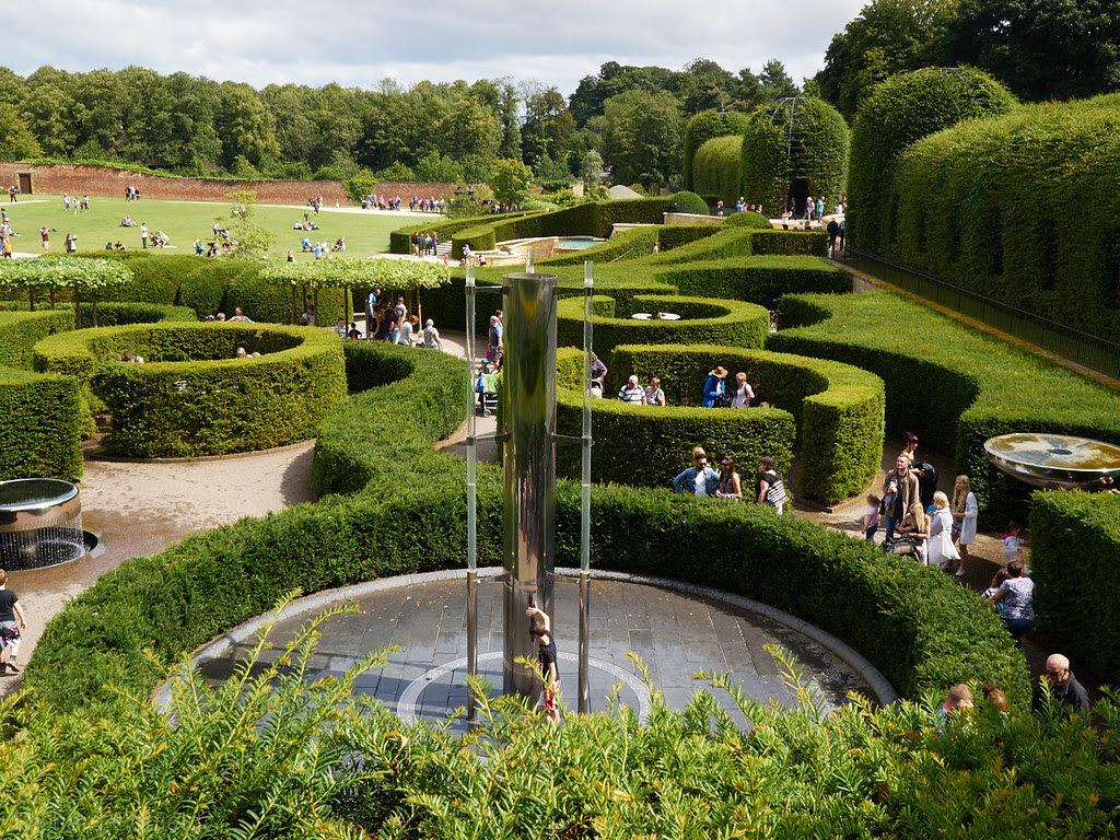 Alnwick Garden looking over the water garden