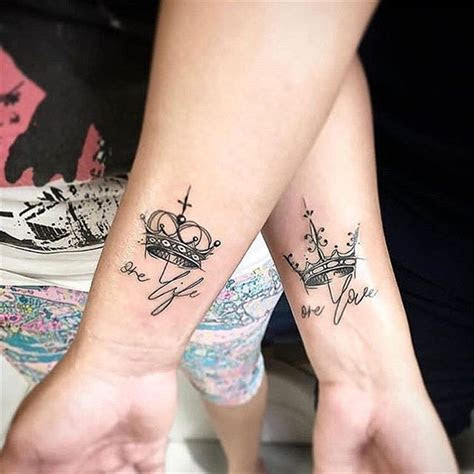 meaningful unique match couple tattoos ideas